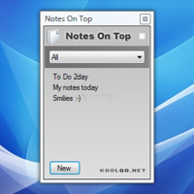 Pantallazo Notes on Top