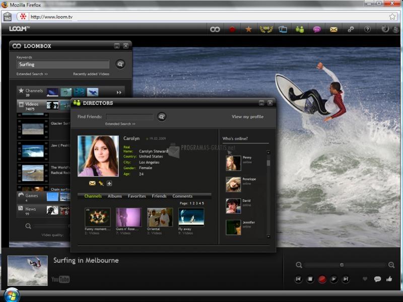 Pantallazo LoomTV Player