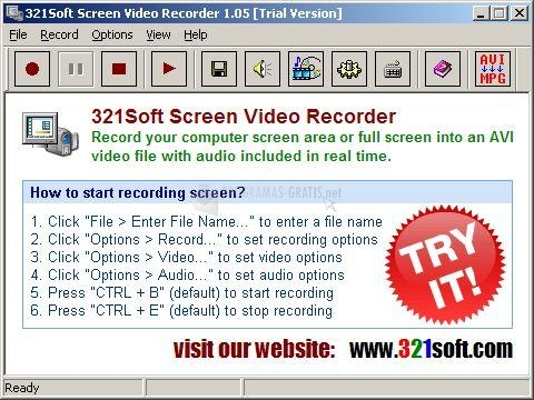 Pantallazo 321Soft Screen Video Recorder
