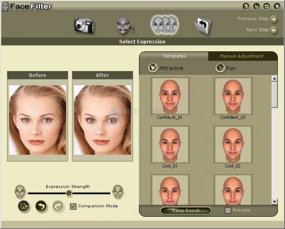 Pantallazo FaceFilter Standard