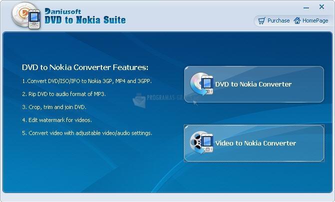 Pantallazo Daniusoft DVD to Nokia Suite