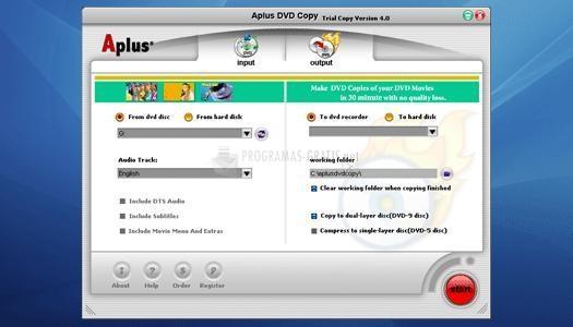 Pantallazo Aplus DVD Copy