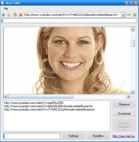 Pantallazo Ares Tube Firefox