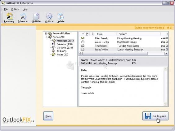 Pantallazo OutlookFIX