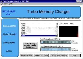 Pantallazo Turbo Memory Charger