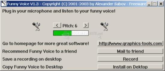 Pantallazo Funny Voice