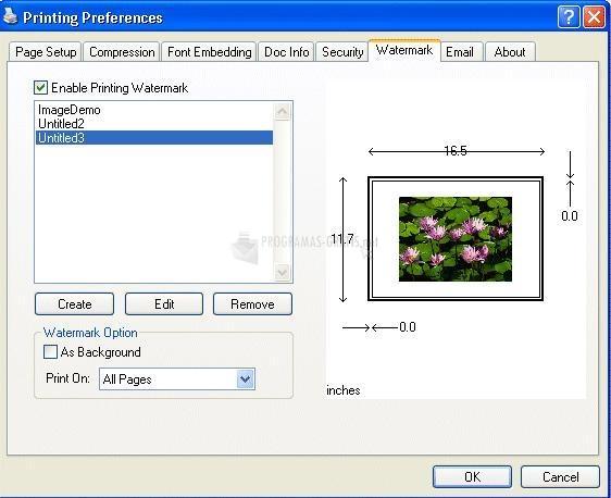 Pantallazo eDocPrinter PDF Pro