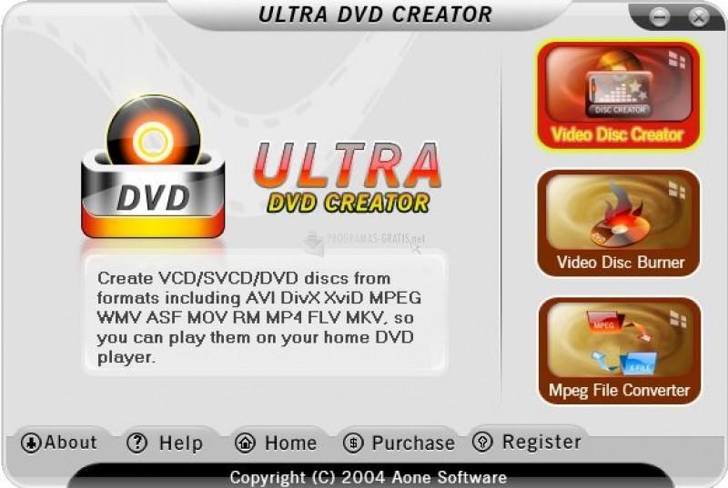 Pantallazo Ultra DVD Creator