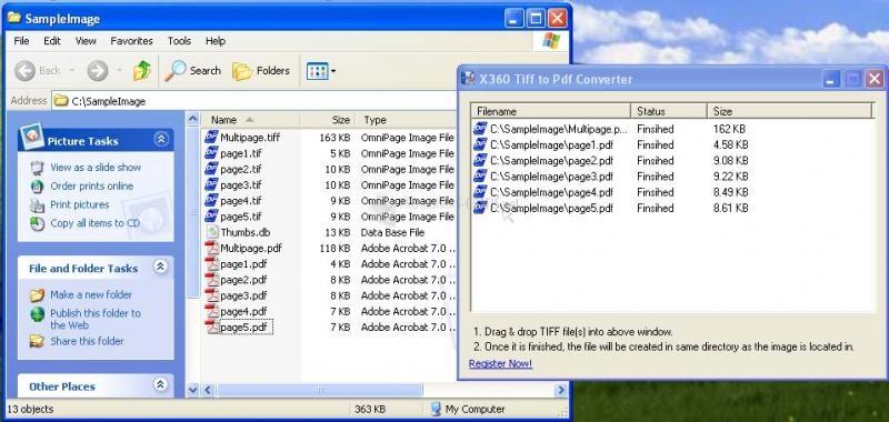 Pantallazo X360 Tiff to PDF Converter