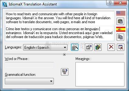 Pantallazo IdiomaX Translation Assistant
