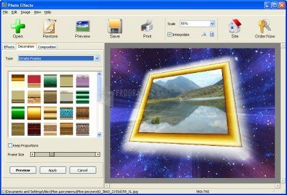 Pantallazo AMS Photo Effects