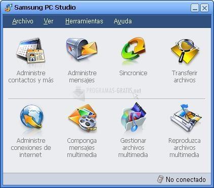 Pantallazo Samsung PC Studio