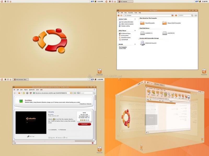 Pantallazo Ubuntu XP