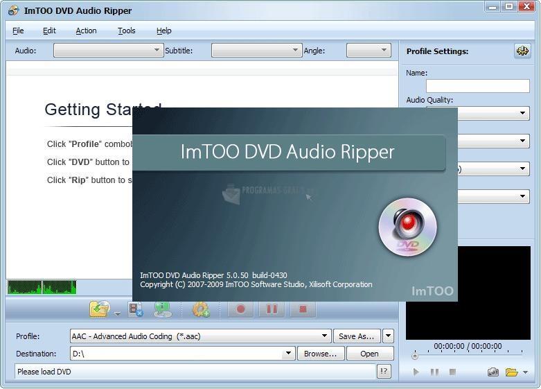 Pantallazo ImTOO DVD Audio Ripper