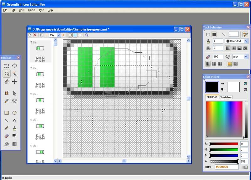 Pantallazo Greenfish Icon Editor Pro