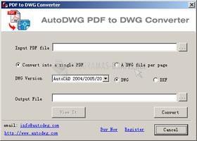 Pantallazo AutoCAD PDF To DWG Converter