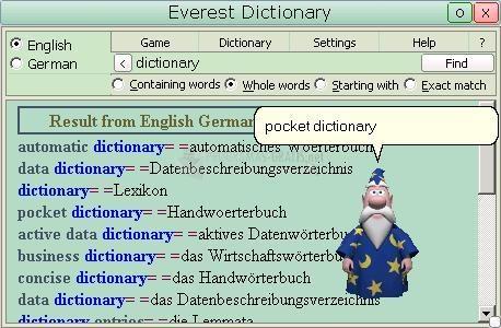 Pantallazo Everest Dictionary