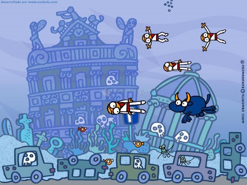 Pantallazo The Bulls Running Under Water II