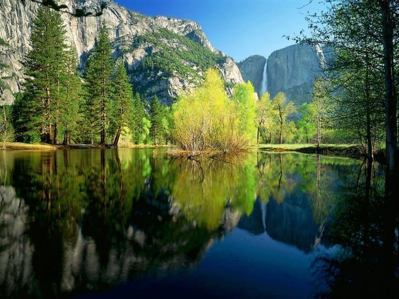 Pantallazo Reflejo montañoso