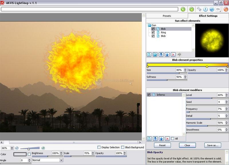 Screenshot AKVIS LightShop