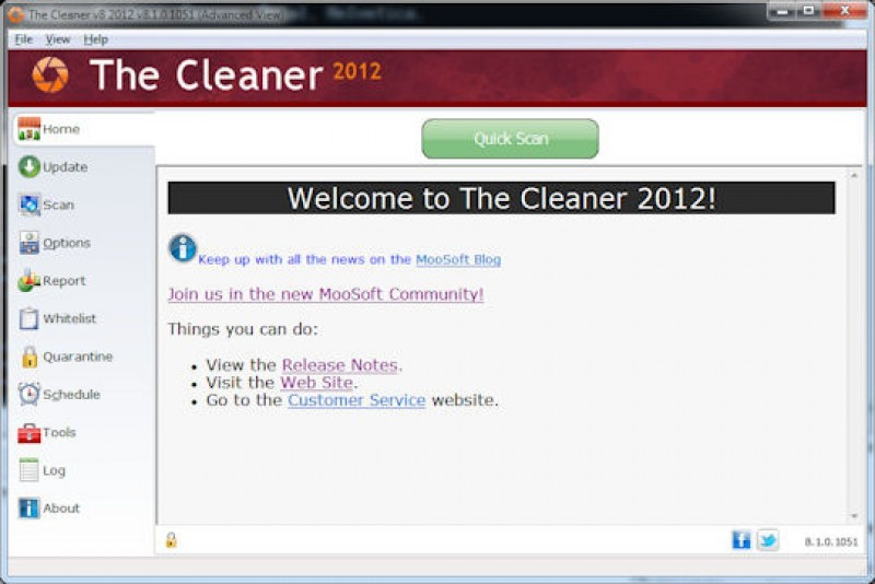Pantallazo The Cleaner Database Update