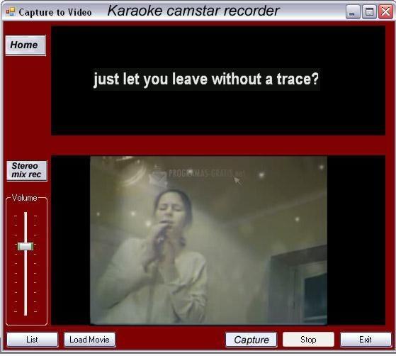 Pantallazo Karaoke Camstar Recorder