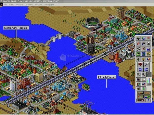 Pantallazo Sim City 2000