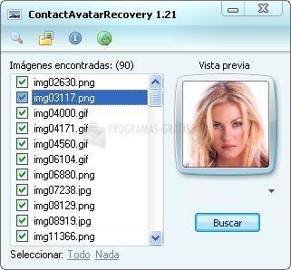 Pantallazo ContactAvatarRecovery