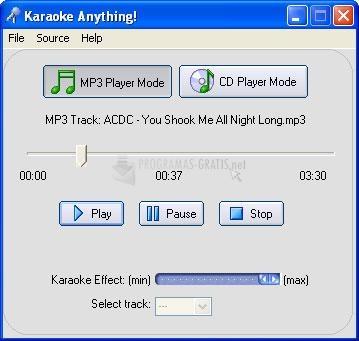 Pantallazo Karaoke Anything!