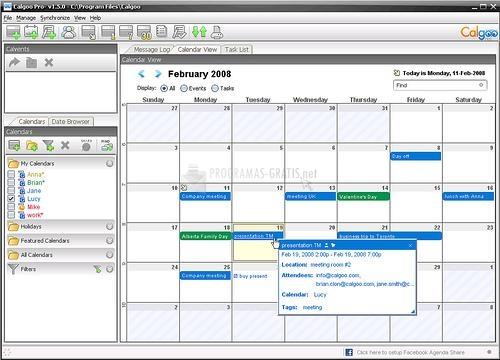 Pantallazo Calgoo Calendar