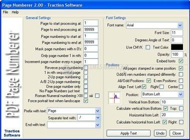 Pantallazo PDF Page Numberer