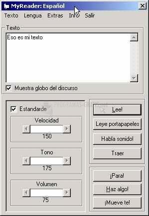 Pantallazo MyReader