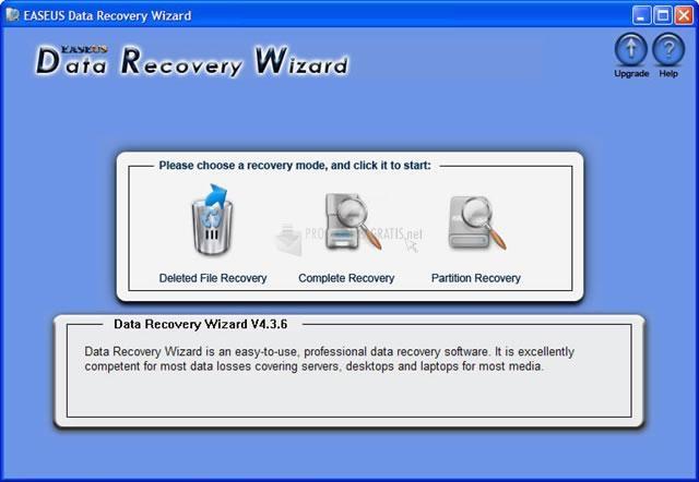 Pantallazo Easeus Data Recovery Wizard