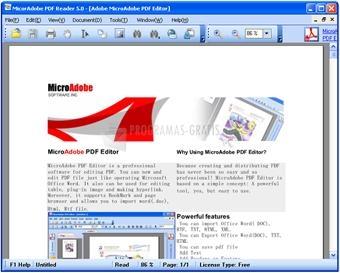 Pantallazo Abdio PDF Reader