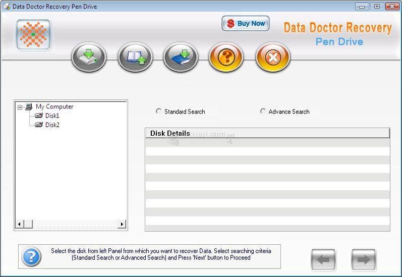Pantallazo Data Doctor Recovery Pen Drive