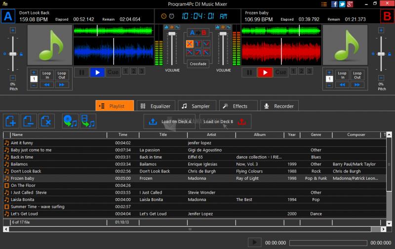 Pantallazo DJ Music Mixer