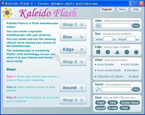 Pantallazo Kaleido Flash