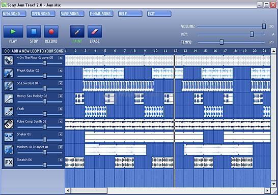 Pantallazo Sony Jam Trax XPress