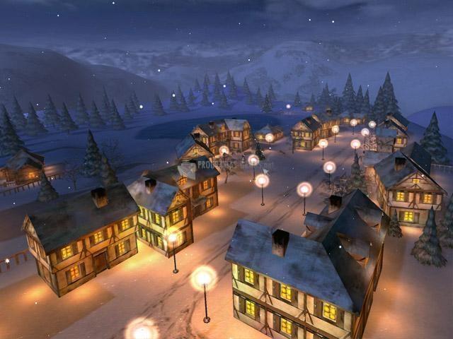 Pantallazo Winter Night 3D Screensaver