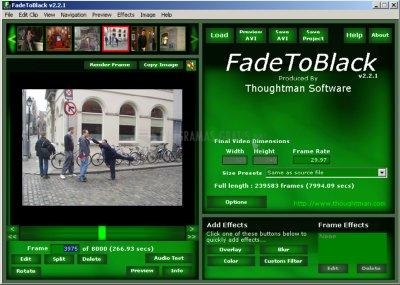 Pantallazo FadeToBlack AVI Video Editor