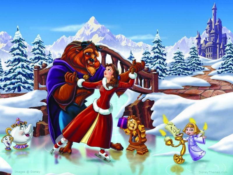 Pantallazo La bella y la bestia en Navidad