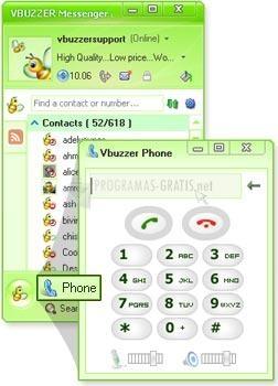 Pantallazo Vbuzzer Messenger