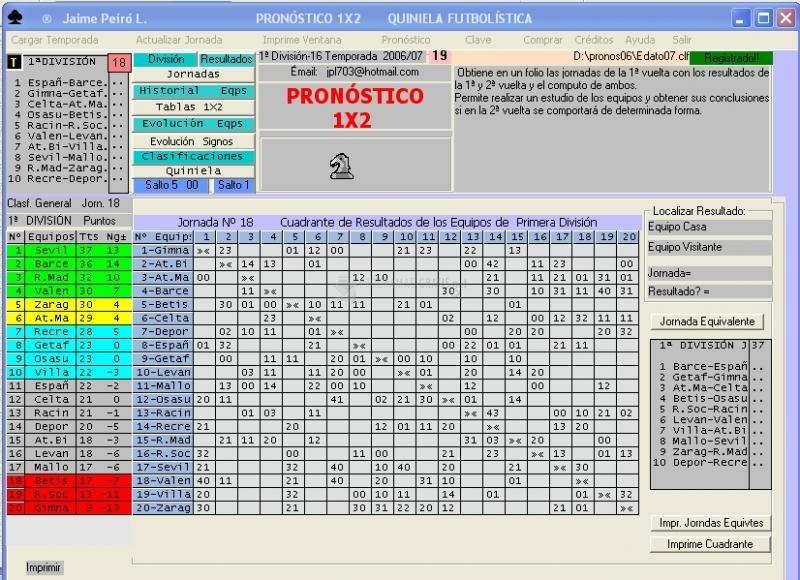 Pantallazo Pronostico 1X2