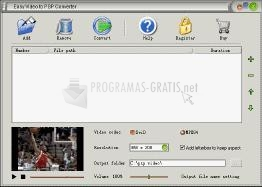 Pantallazo Easy Video to PSP Converter
