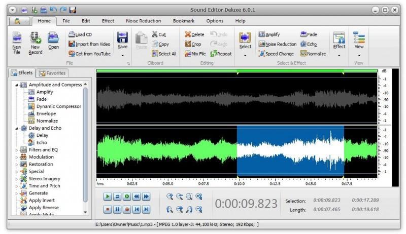 Pantallazo Sound Editor Deluxe