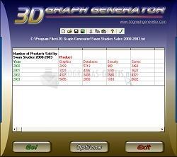 Pantallazo 3D Graph Generator