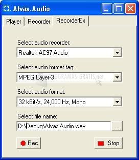 Pantallazo Alvas Audio