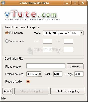 Pantallazo vTute.com Video Tutorial Recorder