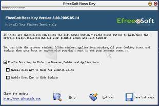 Pantallazo EfreeSoft Boss Key