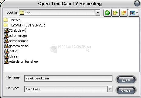 Pantallazo TibiaCam TV Lite